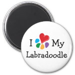 Animal Lover_I Heart My Labradoodle Refrigerator Magnets