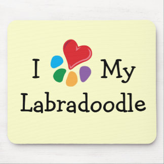 Animal Lover_I Heart My Labradoodle Mouse Pad