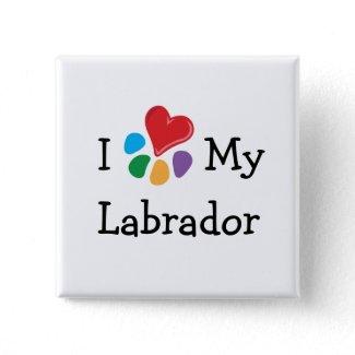 Animal Lover_I Heart My Labrador button