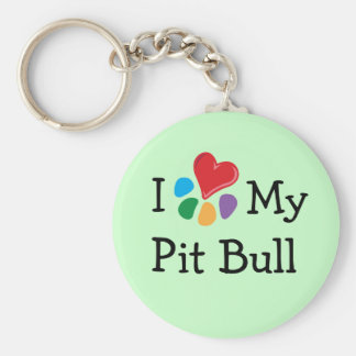 Animal Lover_I Heart My Pit Bull Key Chain