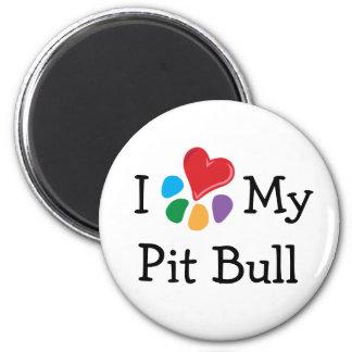 Animal Lover_I Heart My Pit Bull Magnet