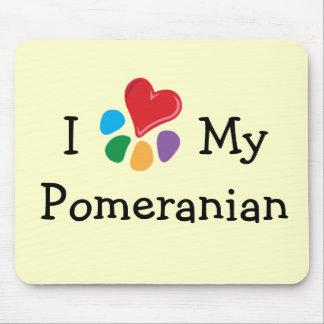 Animal Lover_I Heart My Pomeranian Mouse Pad