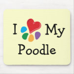 Animal Lover_I Heart My Poodle mousepad