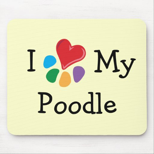 Animal Lover_I Heart My Poodle Mouse Mats