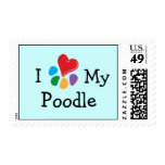 Animal Lover_I Heart My Poodle postage