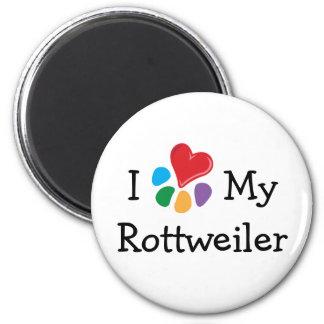 Animal Lover_I Heart My Rottweiler Magnet