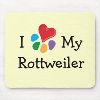 Animal Lover_I Heart My Rottweiler Mouse Pad