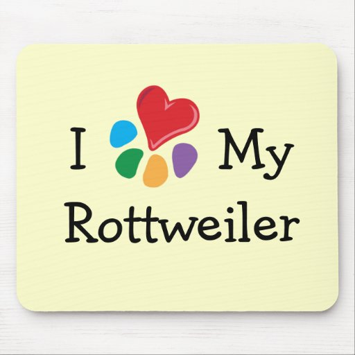 Animal Lover_I Heart My Rottweiler Mouse Pads