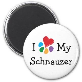 Animal Lover_I Heart My Schnauzer Magnet