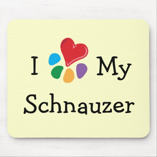 Animal Lover_I Heart My Schnauzer Mouse Pad
