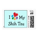 Animal Lover_I Heart My Shih Tzu postage