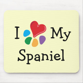 Animal Lover_I Heart My Spaniel Mouse Pad