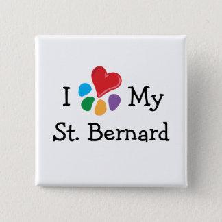 Animal Lover_I Heart My St. Bernard Button