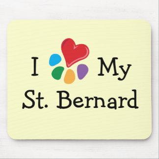 Animal Lover_I Heart My St. Bernard Mouse Pad