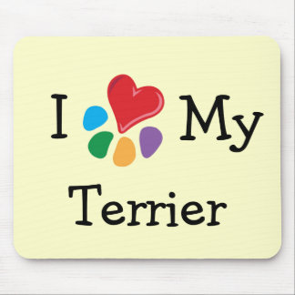 Animal Lover_I Heart My Terrier Mouse Pad