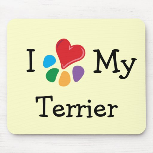 Animal Lover_I Heart My Terrier Mouse Pads