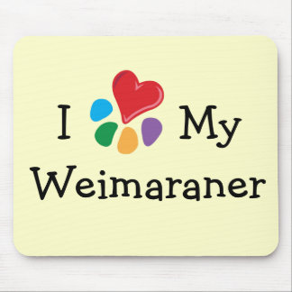 Animal Lover_I Heart My Weimaraner Mouse Pad