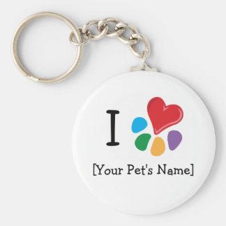 Animal Lover_I Heart template Keychain