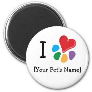 Animal Lover_I Heart template Magnet
