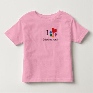 Animal Lover_I Heart template Toddler T-shirt