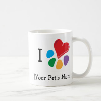 Animal Lover_I Heart template two-tone Coffee Mug