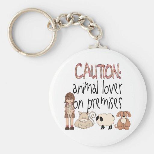Animal Lover On Premises Keychains