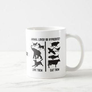 Animal Lover or Hypocrite? Coffee Mugs