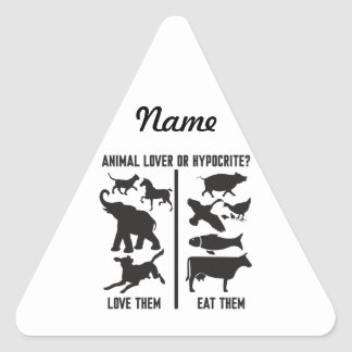 Animal Lover or Hypocrite? Triangle Sticker
