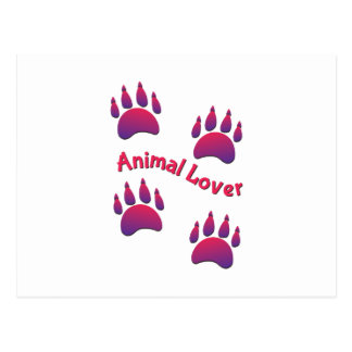 Animal Lover Postcard
