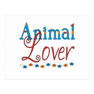 Animal Lover (red/blue) Postcard