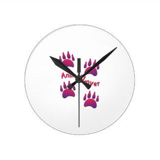Animal Lover Round Clock