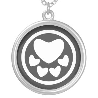 Animal Lover Sign Round Pendant Necklace