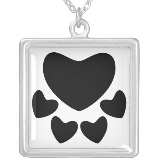 Animal Lover Sign Square Pendant Necklace