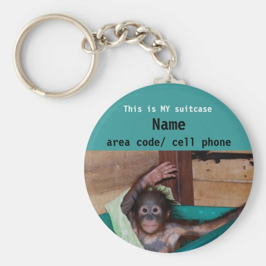 Animal Lover suitcase ID tag Keychain