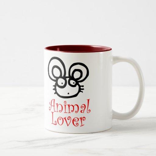 Animal Lover Two-Tone Coffee Mug