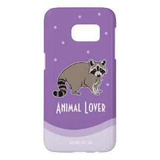 Animal Lover With Raccoon Friend Samsung Galaxy S7 Case