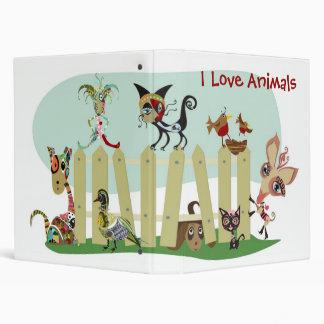 Animal Lovers 3 Ring Binders