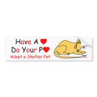 Animal Lover's Message bumpersticker