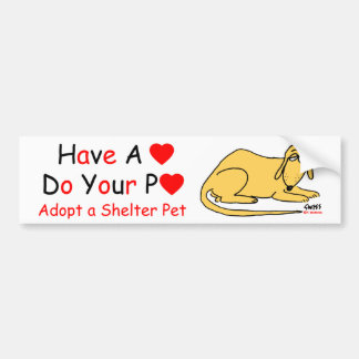 Animal Lover's Message Bumper Stickers