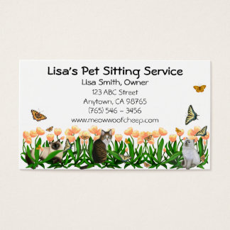Animal Lovers Pet Sitting Business Card