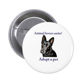 Animal Lovers Unite! Button