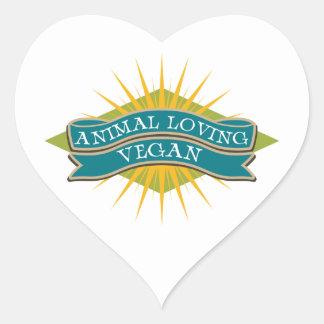 Animal Loving Vegan Heart Sticker