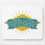 Animal Loving Vegetarian Mousepads