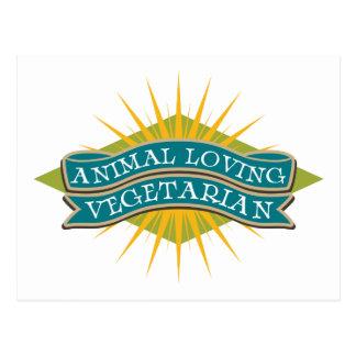 Animal Loving Vegetarian Postcard