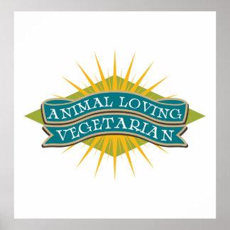 Animal Loving Vegetarian Poster