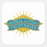 Animal Loving Vegetarian Stickers