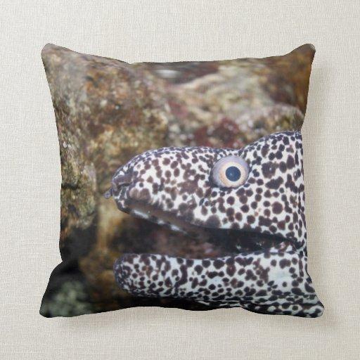 animal manchado del acuario del derecho de la angu almohada