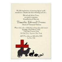 Animal MD Veterinary School Graduation Invitation