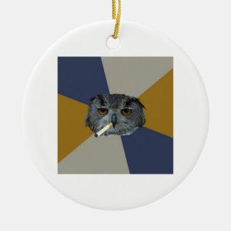 Animal Meme del consejo del búho del estudiante de Ornaments Para Arbol De Navidad