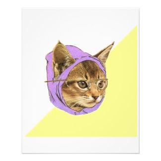 """Animal Meme del consejo del gato del gatito del in Folleto 4.5"""" X 5.6"""""""